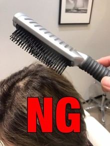 【頭皮 刺激】ブラシで頭を叩いても育毛になりません!